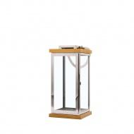 Lampion srebrny/jasne drewno BORNEO