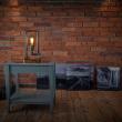 Lampka stołowa ręcznie robiona Hekla Orzech Custom woods CL-005