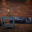 Lampka stołowa ręcznie robiona Hekla Palisander Różany Custom woods CL-007