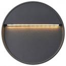 Lampy ścienne zewnętrzne LED, 2 szt., 3 W, czarne, okrągłe