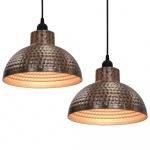 lampy wiszące 2szt. półsferyczne w kolorze miedzi