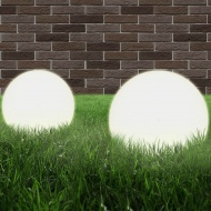 Lampy zewnętrzne LED, 2 szt., kule 25 cm, PMMA