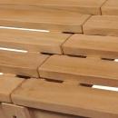 Ławka ogrodowa, 180 cm, lite drewno tekowe