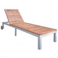 Leżak, lite drewno akacjowe