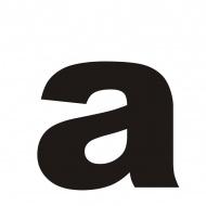 "Litera na dom DekoSign ""a"" czarna"