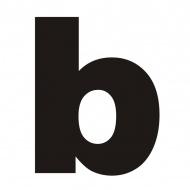 "Litera na dom DekoSign ""b"" czarna"