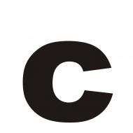"""Litera na dom DekoSign """"c"""" czarna"""