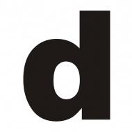 "Litera na dom DekoSign ""d"" czarna"