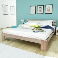 Łóżko z drewna sosnowego, 160 x 200 cm, naturalne