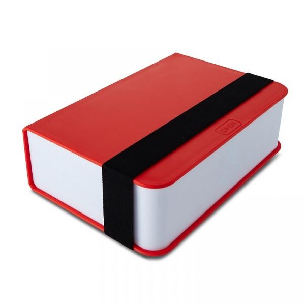 Lunch box + książka Black+Blum czerwony BK-LB004