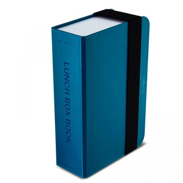 Lunch box + książka Black+Blum niebieski BK-LB005