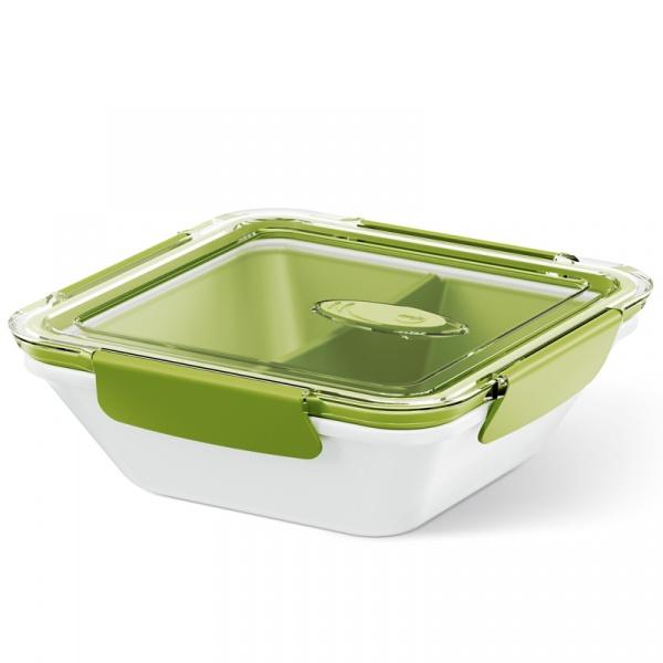 Lunchbox 0,9 L EMSA Bento Box biało-zielony EM-513960