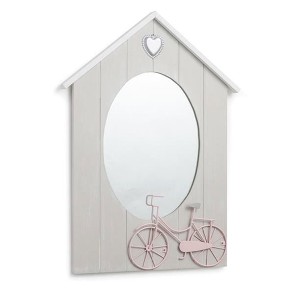 Lusterko wiszące Brandani Mirror Dove szary 55948