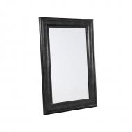 Lustro czarne - w ramie - do łazienki - do salonu - 61 x 91 cm - Federica