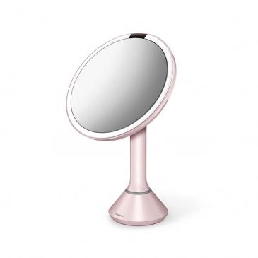 Lustro sensorowe z kontrolą natężenia światła - 20 cm - różowe / simplehuman