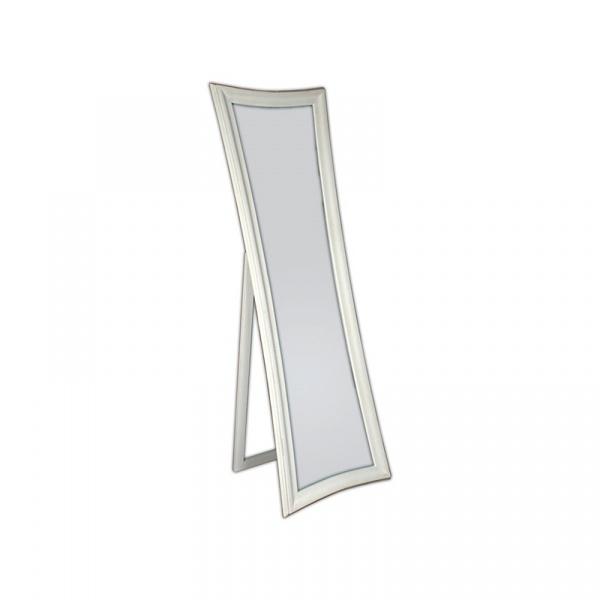 Lustro stojące 54x170cm D2 Elegance białe/przecierane 5908252667376