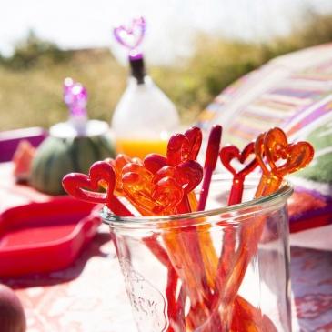Łyżeczki Koziol Happy Spoons Susi 4 szt. transparentne czerwone