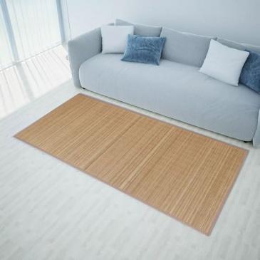 Mata bambusowa na podłogę, 100x160 cm, brązowa