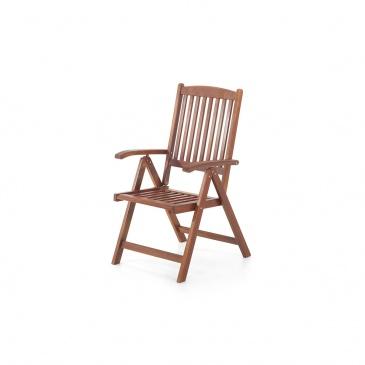 Meble ogrodowe - balkonowe - drewniane - stół z dwoma krzesłami - TOSCANA