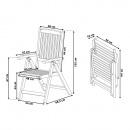 Meble ogrodowe drewno - stół, 2 leżanki, 6 krzeseł - TOSCANA