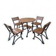 Meble ogrodowe Restor bez podłokietników 80cm Fiemar brązowe