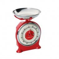 minutnik w kształcie wagi, 7 x 7 x 10 cm, czerwony