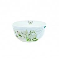Misa z porcelany Nuova R2S Romantic białe kwiaty
