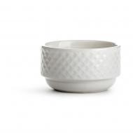 miseczka, biała, ceramika, śred. 12 x 7 cm