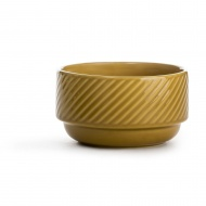 miseczka, żółta, ceramika, śred. 12 x 7 cm