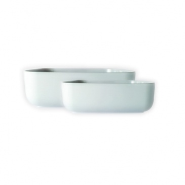 Miska kwadratowa Vialli Design Firenze średnia biała
