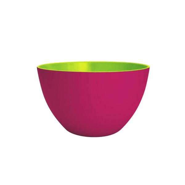 Miska na sałatki 22 cm Zak! Designs średnia różowo-zielona 1701-1890