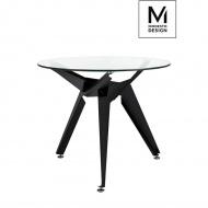 MODESTO stół CRAB czarny - szkło, metal