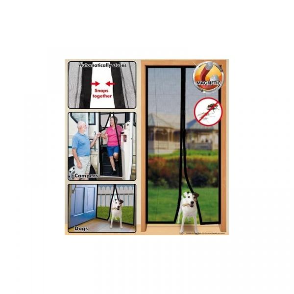 Moskitiera na drzwi Magic Mesh z listwą magnetyczną biała mag-135365-b