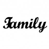 Napis 3D na ścianę dekoracyjny DekoSign FAMILY czarny