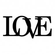 Napis 3D na ścianę dekoracyjny DekoSign LOVE czarny