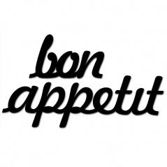 Napis 3D na ścianę DekoSign BON APPETIT czarny