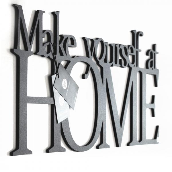 Napis 3D na ścianę DekoSign MAKE YOURSELF AT HOME czarny MYAH1-1