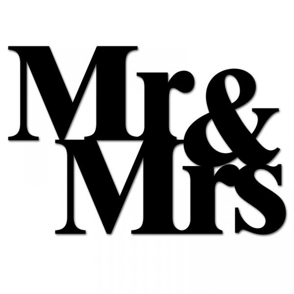 Napis 3D na ścianę DekoSign MR&MRS czarny MM1-1