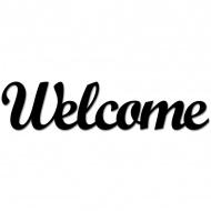 Napis 3D na ścianę DekoSign WELCOME czarny