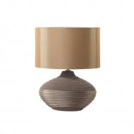 Nowoczesna lampka nocna - lampa stojąca - brązowa - Albina