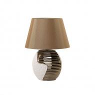 Nowoczesna lampka nocna - lampa stojąca - miedziano-beżowa - Tramonto