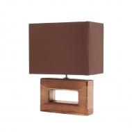 Nowoczesna lampka nocna - lampa stojąca w kolorze brązowym - Alberto