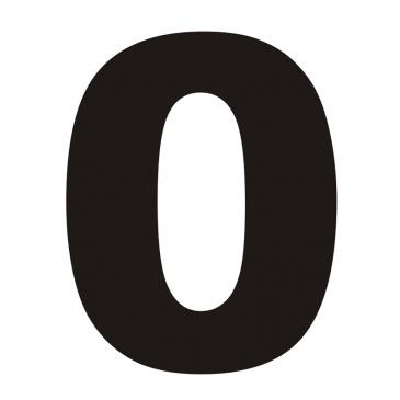 Numer informacyjny na dom DekoSign 0 czarny