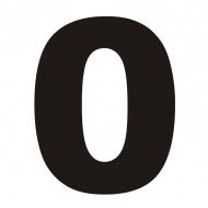 Numer na dom DekoSign 0 czarny