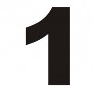 Numer na dom DekoSign 1 czarny