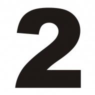 Numer na dom DekoSign 2 czarny
