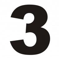 Numer na dom DekoSign 3 czarny