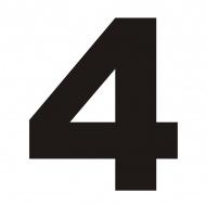 Numer na dom DekoSign 4 czarny