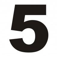 Numer na dom DekoSign 5 czarny
