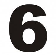 Numer na dom DekoSign 6 czarny